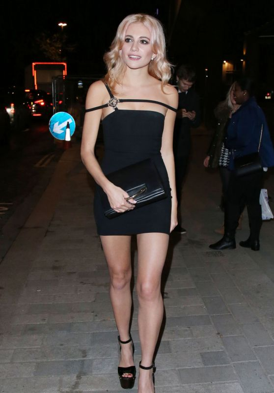 Pixie Lott Hot in Mini Dress - Leaving Zebrano City Restaurant in London, November 2015
