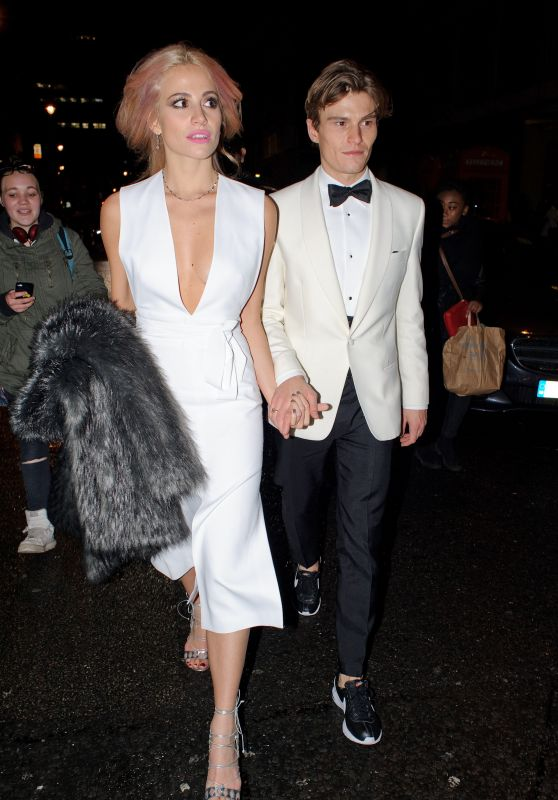 Pixie Lott - Leaving the British Fashion Awards2015  in London