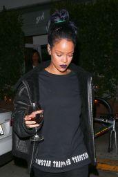 Rihanna Night Out Style - Leaving Giorgio Baldi Restaurant in Santa Monica, November 2015
