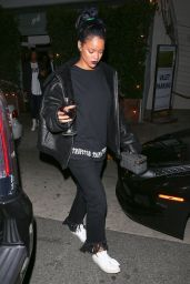 Rihanna Night Out Style - Leaving Giorgio Baldi Restaurant in Santa Monica, November 2015
