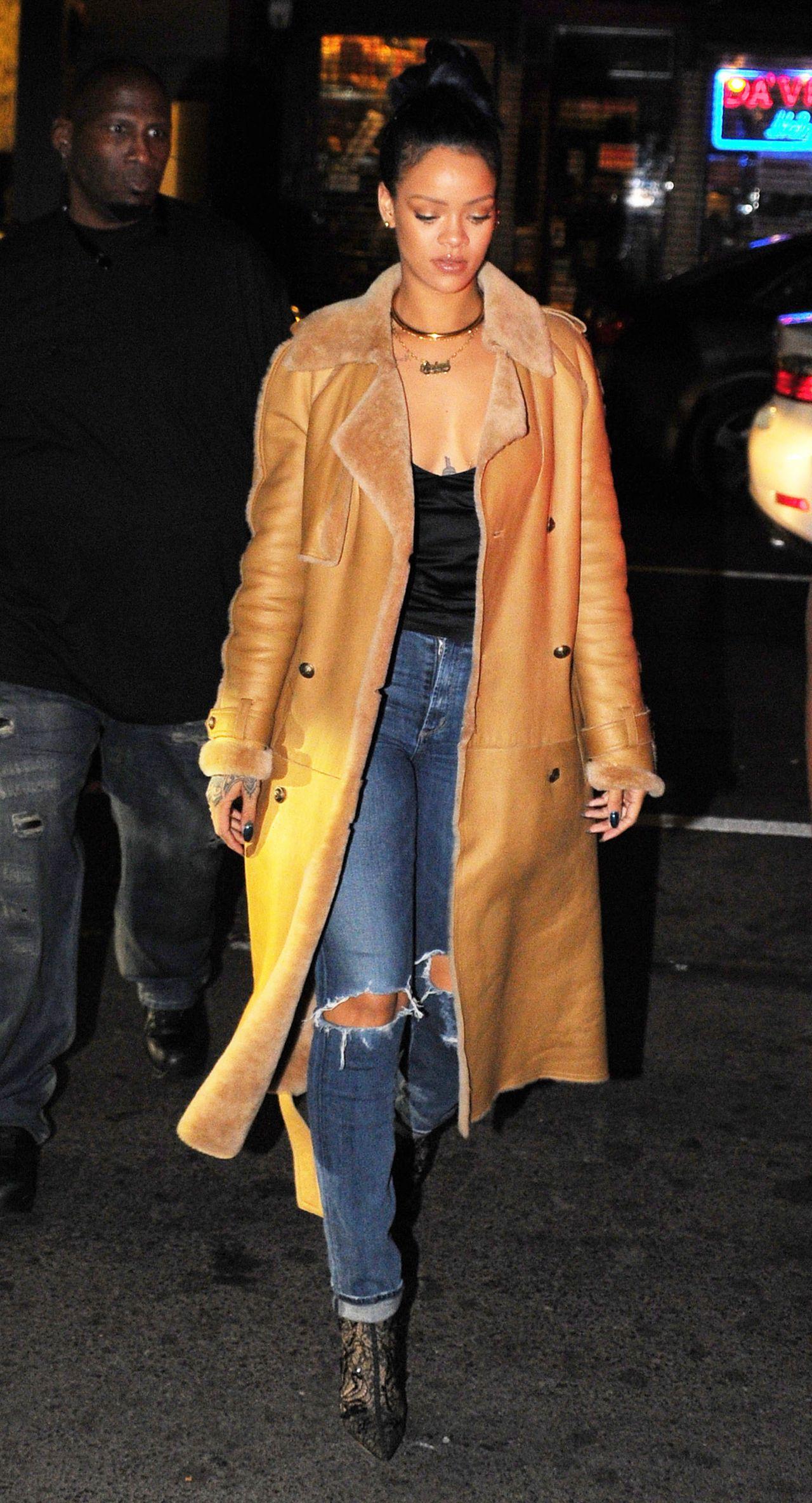 Rihanna Style Sono Nightclub In The West Village November 2015
