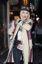 Rita Ora - Celebrating Her 25th Birthday in London, 11/26/2015