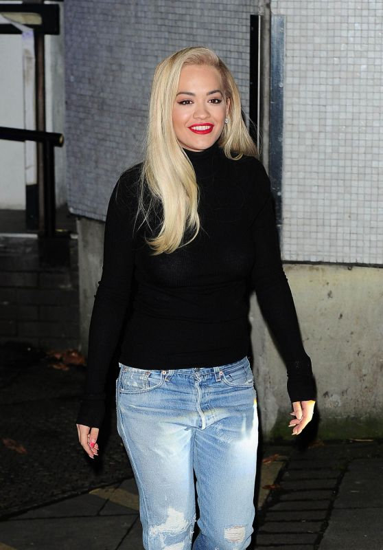 Rita Ora - Leaving iTV studios in London, November 2015