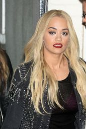 Rita Ora – Leaving the X Factor Studios in London, 11/29/2015