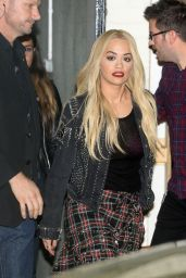 Rita Ora – Leaving the X Factor Studios in London, 11/29/2015