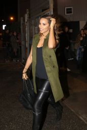 Rochelle Humes - Leaving the X Factor Studios in London, 11/29/2015