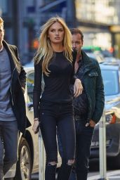 Romee Strijd - Outside VS building in NYC, November 2015