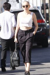 Rose McGowan - Shows off Her New Bald Head - Out in West Hollywood, November 2015