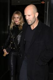 Rosie Huntington-Whiteley and Jason Statham at the Palm Restaurant in Beverly Hills, November 2015