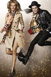 Rosie Huntington-Whiteley & Naomi Campbell - Photoshoot for Burberry Holiday 2015