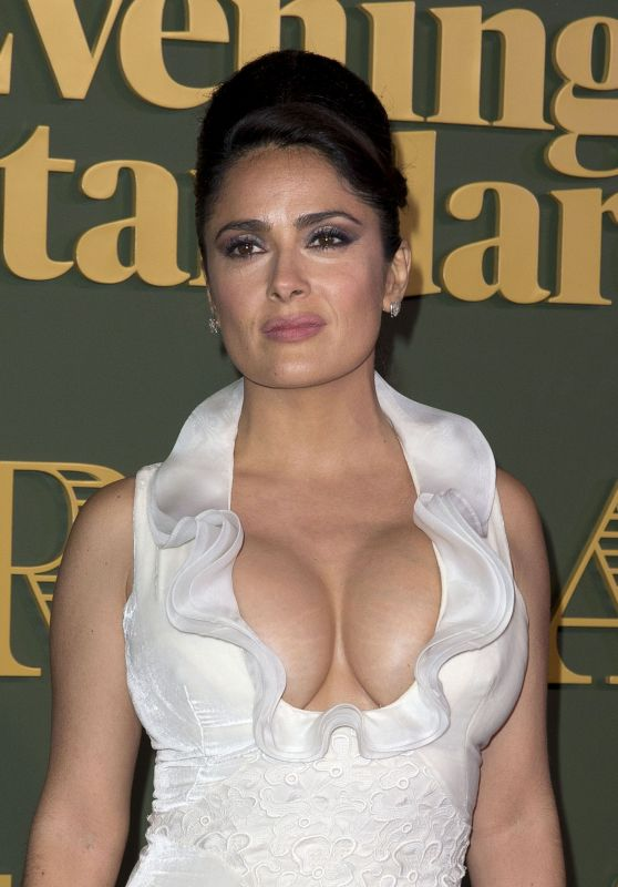 Salma Hayek – Evening Standard's Theatre Awards in London Part II