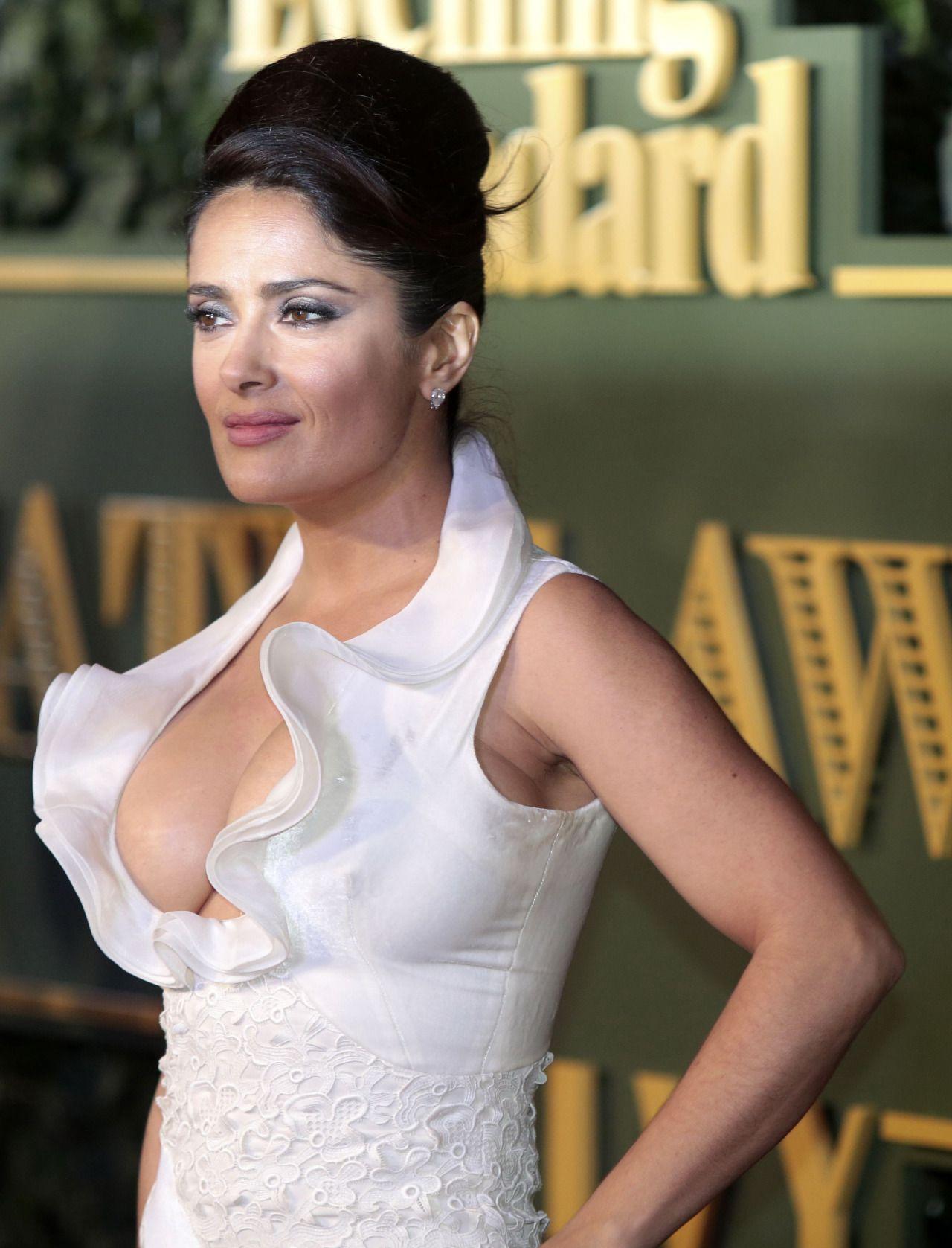 Salma Hayek's Breasts On Letterman The Nip Slip