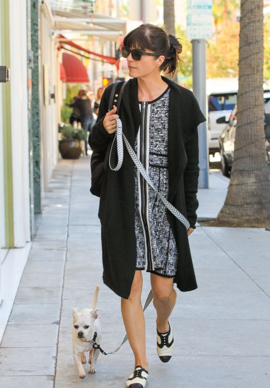 Selma Blair - With Her Dog Ducky in Beverly Hills, November 2015