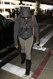 Serena Williams - at LAX in Los Angeles, November 2015