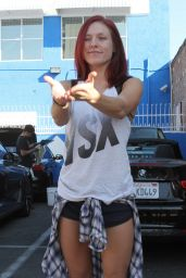 Sharna Burgess – Arrives at DWTS Rehearsals, November 2015