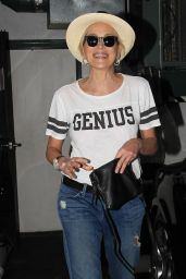 Sharon Stone - Stops by a Nail Salon in Beverly Hills, October 2015