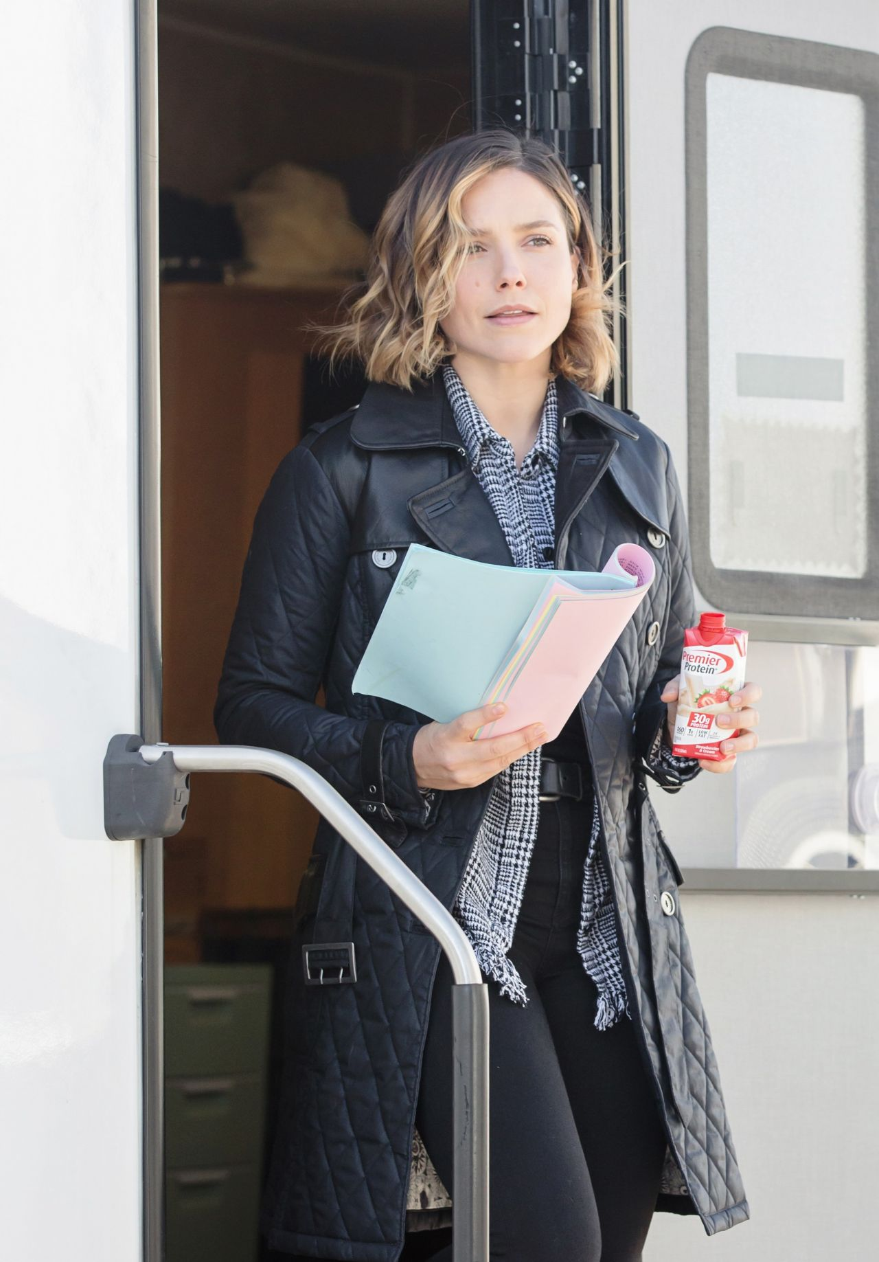 Sophia Bush - on the Set of 'Chicago PD' in Chicago ...