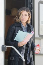 Sophia Bush - on the Set of