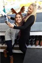 Stella Hudgens and Alli Simpson - Kick Off the Holidays at the Ice Rink in Santa Monica