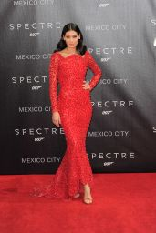 Stephanie Sigman on Red Carpet – James Bond 'Spectre' Latin America Film Premiere in Mexico City