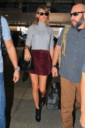 Taylor Swift Leggy in Mini Skirt - LAX Airport, November 2015