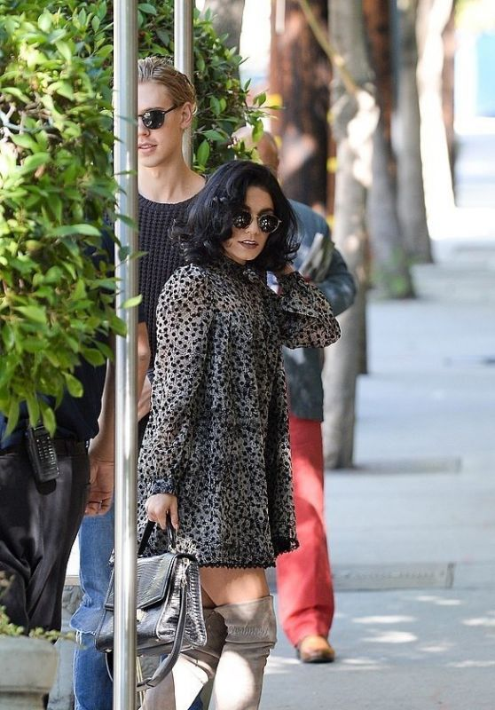 Vanessa Hudgens Style - Outside Sunset Marquis Hotel in LA, November 2015