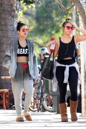 Vanessa & Stella Hudgens - Aroma Coffee & Tea in Los Angeles, November 2015