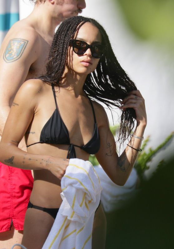 Zoe Kravitz in a Bikini at a Pool in Miami, November 2015