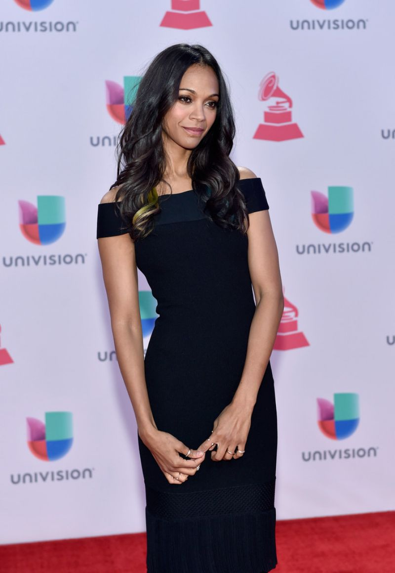Zoe Saldana 2015 Latin Grammy Awards In Las Vegas