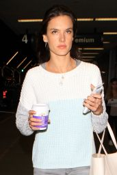 Alessandra Ambrosio at LAX in Los Angeles 12/17/2015