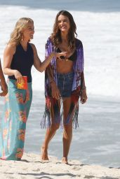 Alessandra Ambrosio in a Bikini - Filming for Brazilian TV Globo Brazil on a Beach in Brazil 12/23/2015