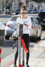 Alessandra Ambrosio in Leggings - Out in LA 12/11/2015