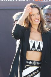 Alessandra Ambrosio on the set of Extra in West Hollywood, November 2015
