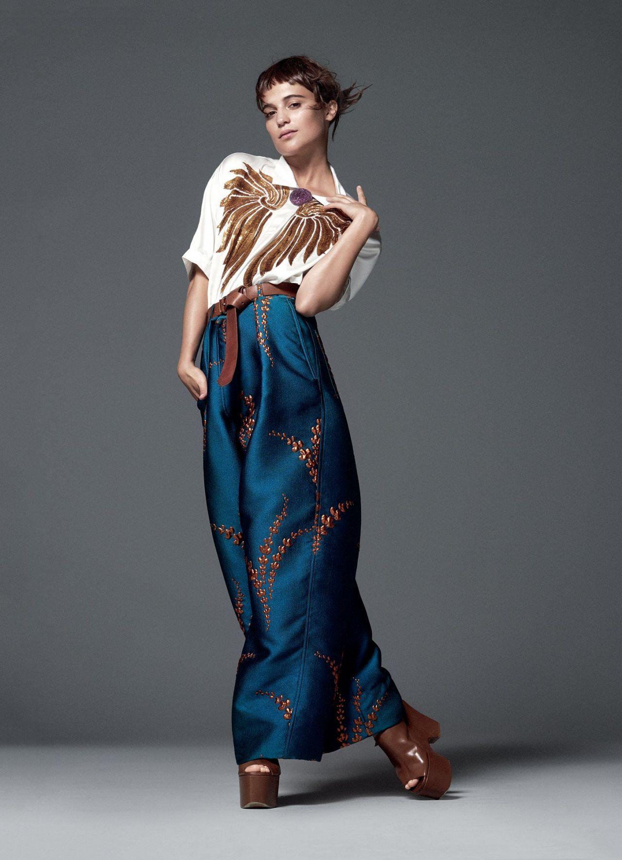 Alicia Vikander Vogue Magazine Us January 2016 Cover And