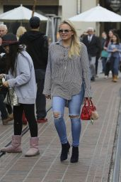 Alli Simpson in Ripped Jeans - Shopping at The Grove in West Hollywood, December 2015