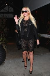 Amanda Bynes Night Out Style - Leaving a Party in West Hollywood - December 2015
