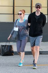 Amy Adams in Leggings - Out in Beverly Hills, December 2015