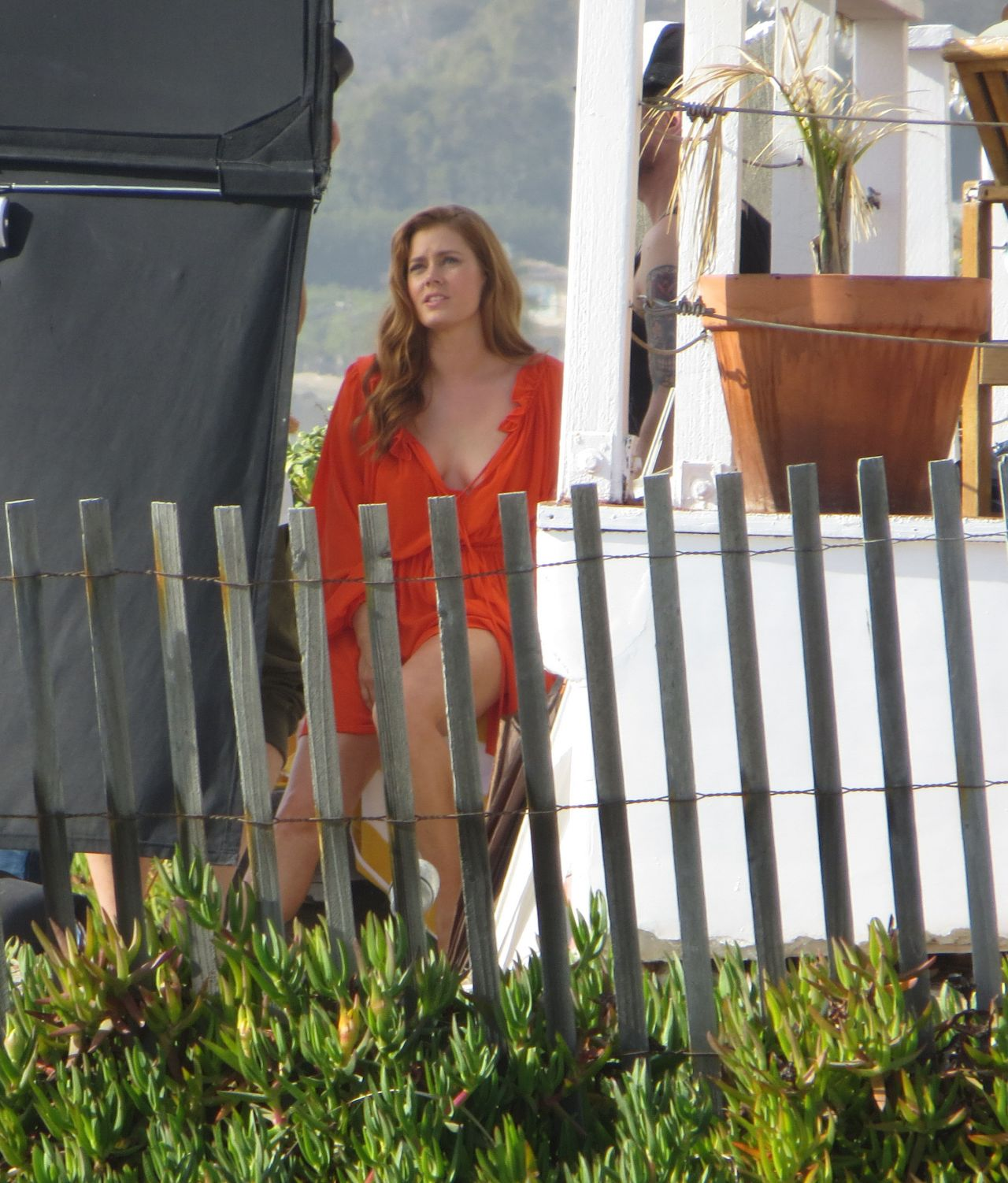 Amy Adams On Set Of Photoshoot In Santa Monica December