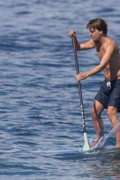 Anna Andres in a Blue Bikini - Paddle-boarding in Hawaii 12/28/2015
