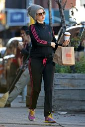 Anne Hathaway in Track Suit - Out in New York City, December 2015
