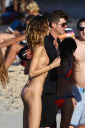 April Love Geary Bikini Candids - Beach in St Barts 12/30/2015