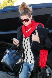 Ashley Greene Casual Style - LAX in Los Angeles 12/29/2015