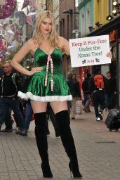 Ashley James - PETA Anti-Fur Campaign in London, December 2015