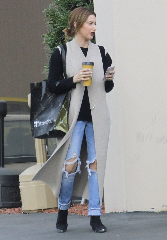 Ashley Tisdale in Ripped Jeans - Studio in Los Angeles, 12/10/2015