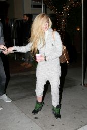 Avril Lavigne Leaving the Sunset Marquis in West Hollywood, December 2015
