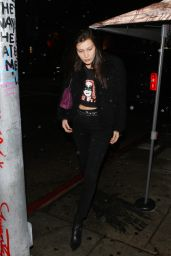 Bella Hadid - Parties at The Nice Guy Club in West Hollywood 12/22/2015
