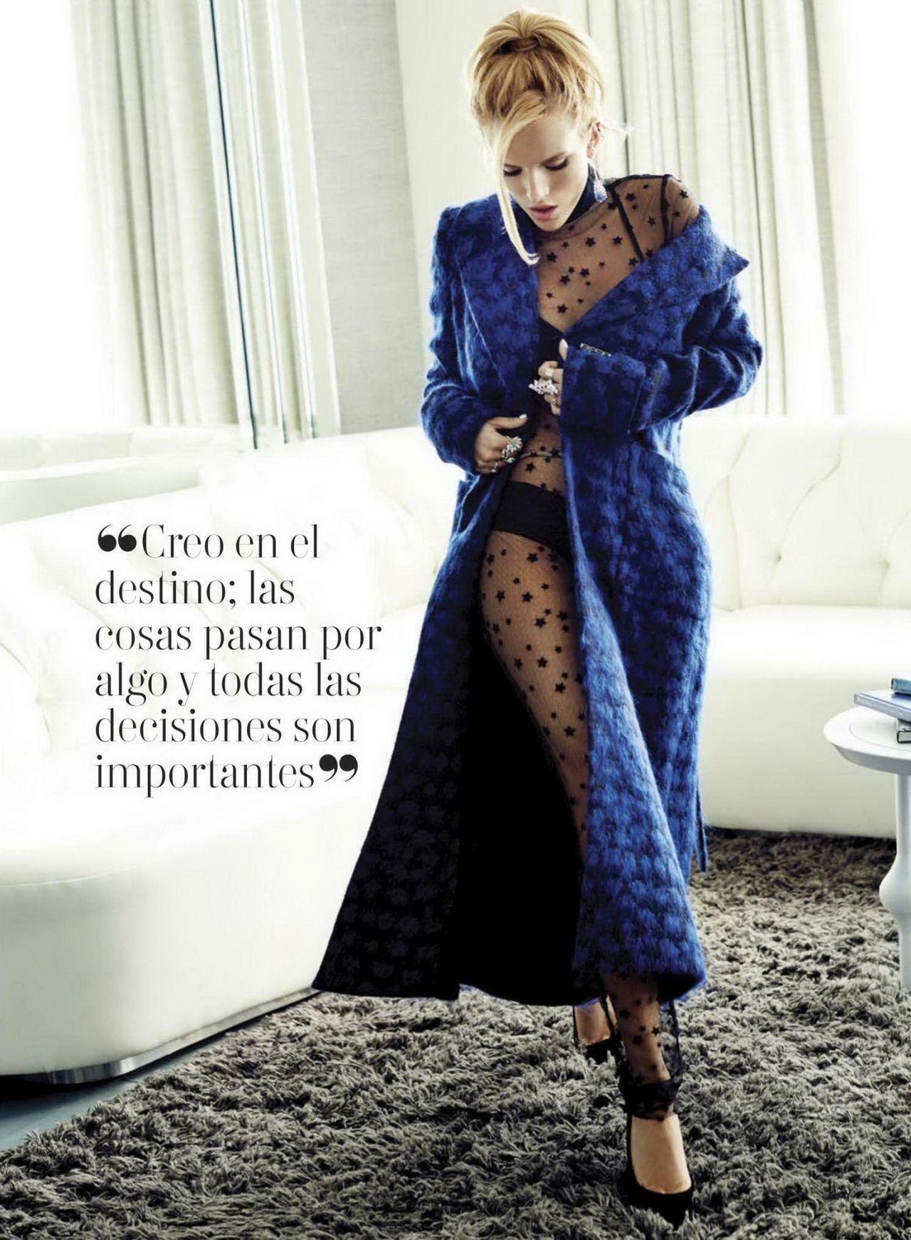 Bella Thorne Glamour Magazine Mexico December 2015 Issue