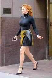 Bella Thorne in Mini Skirt - Visiting The Huffington Post, 12/15/2015