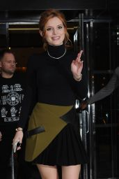 Bella Thorne in Mini Skirt - Visiting The Huffington Post, 12/15/2015