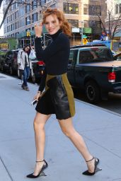 Bella Thorne Leggy in Mini Skirt - Out in New York City, 12/15/2015